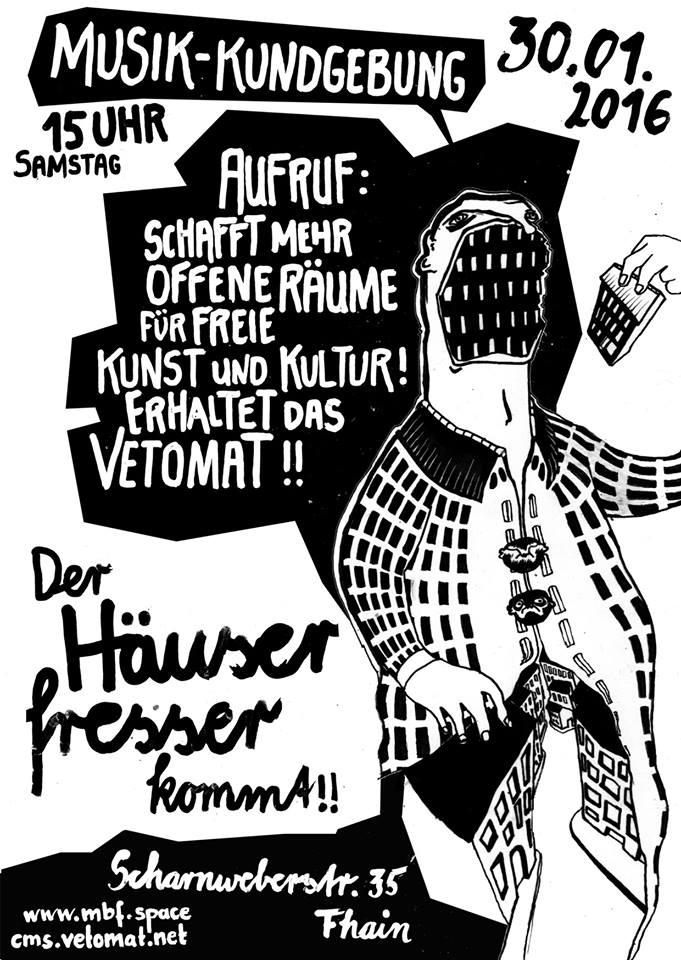 30.1. Jahres-Auftakts-Kundgebung vor dem Vetomat