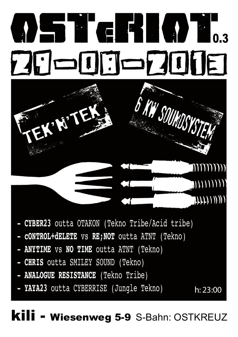 Tekno Rave im Kili 29.8.2013