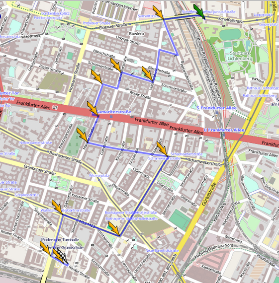 21.6. Route Nachttanzdemo MBF 2014