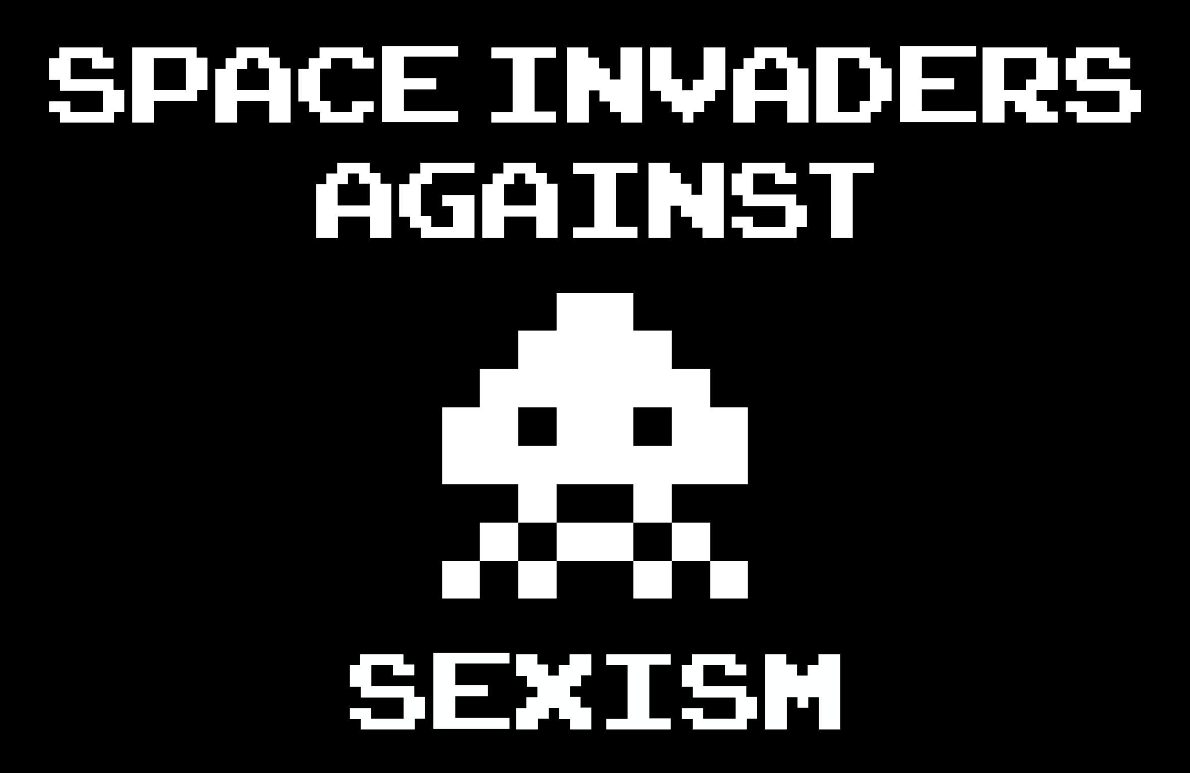 space invaders against sexism