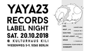 yaya23 records label night